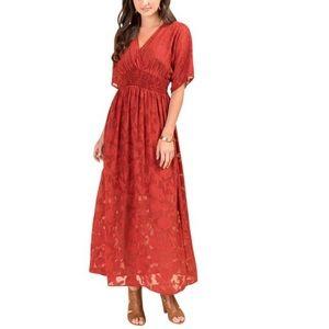 Francesca's Miami Dress in Burnt Orange